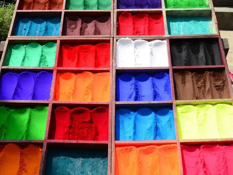 Los pigmentos, esa alegría del color