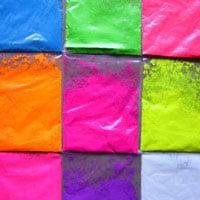 pintura fluorescente | contiene pigmentos fluorescentes en polvo para crear impacto visual en el usuario.